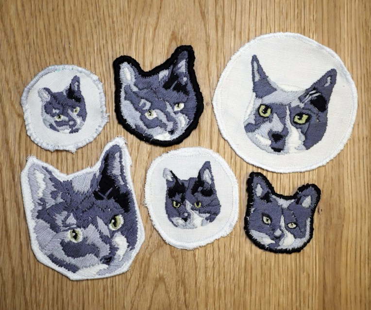 Cat Portrait Embroidered Patches