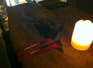 Dinner and the black hole: is this the worst table design ever?…