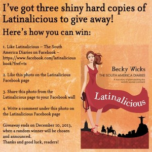 Win a copy of Latinalicious! Here's how…