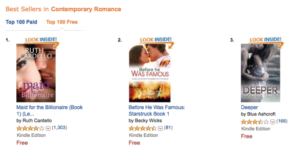 day 2, #2 in contemporary, btwn 2 BookBubs