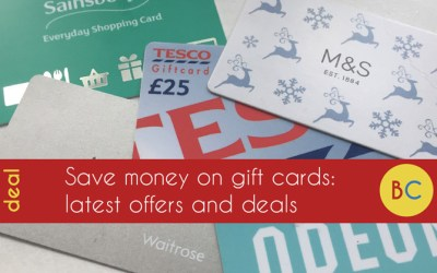 Gift card discounts and offers: 20% off inc Gap, Odeon, Pizza Express and New Look