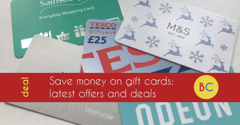 Gift card discounts and offers: 20% off Cineworld, Pizza Express & Gap