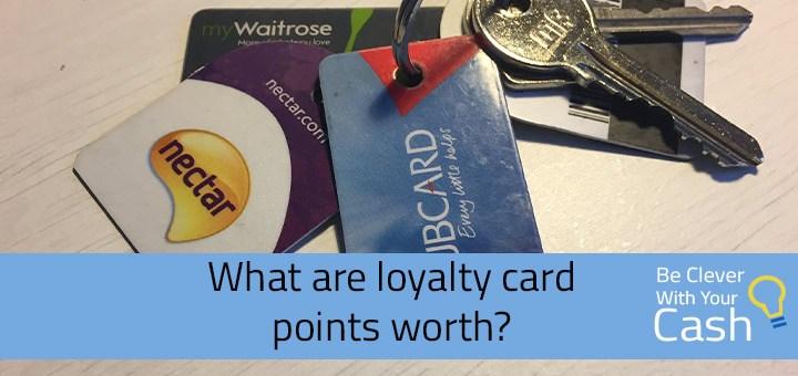 loyalty card points worth