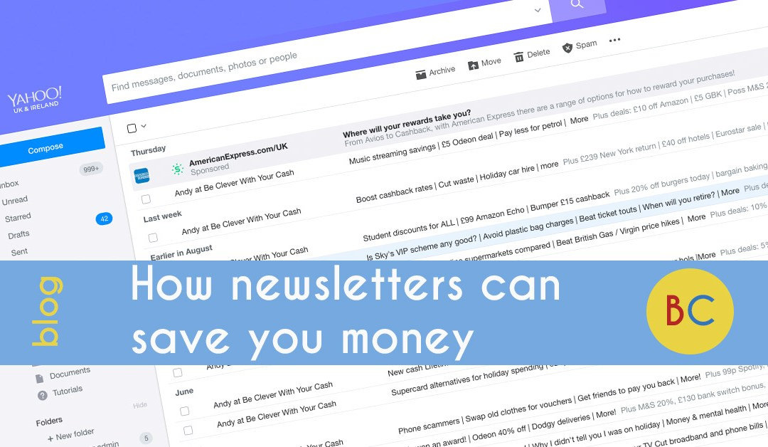 save money with newsletters