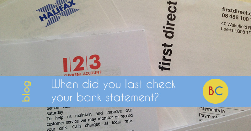 check bank statement