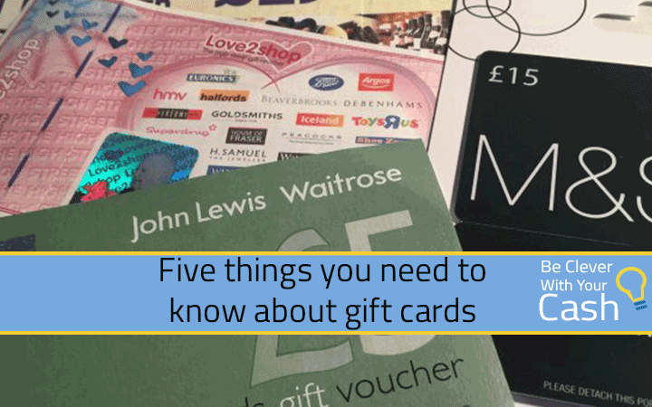 five things know about gift cards