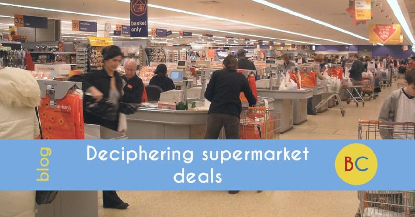 Deciphering supermarket deals