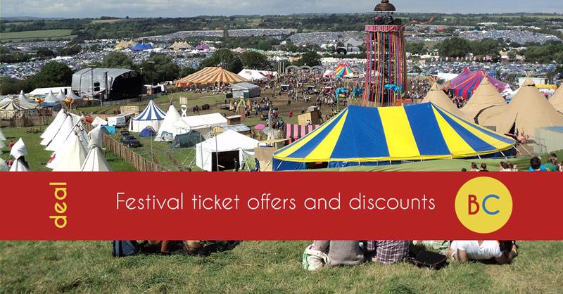 festival ticket offers