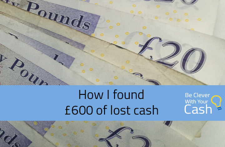 How found £600 lost cash