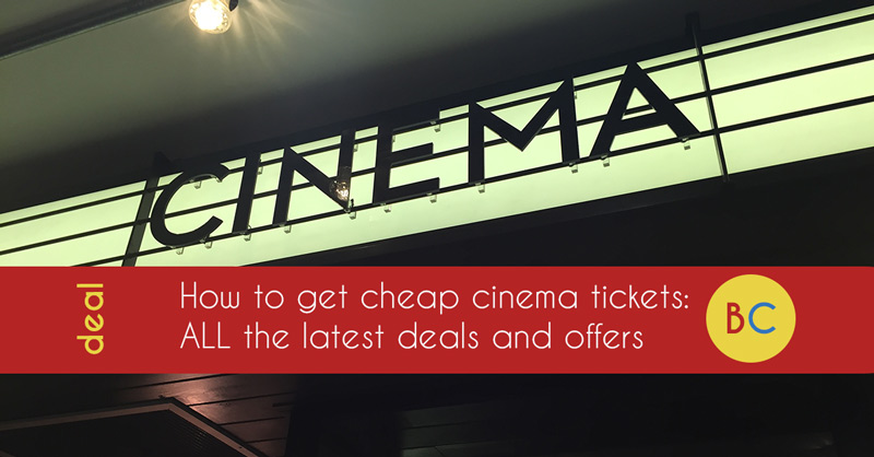 Latest cheap cinema tickets offers and deals (September 2019