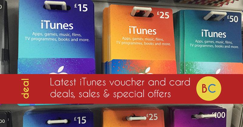 iTunes voucher discount deals