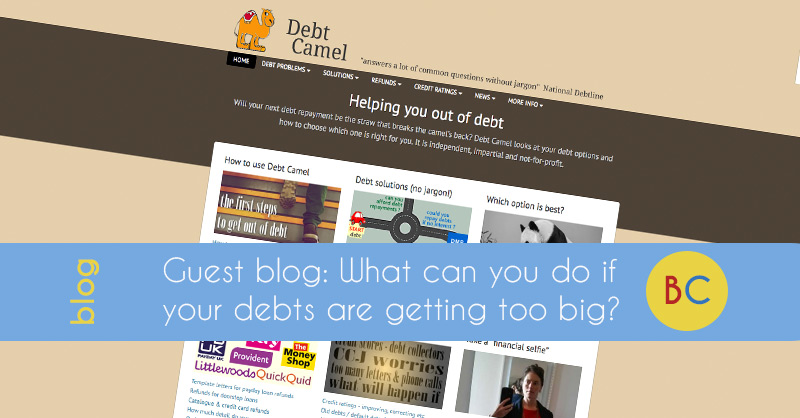 What can you do if your debts are getting to big?