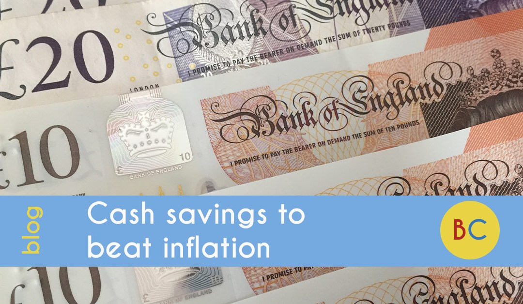 Cash savings to beat inflation
