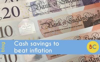 Cash savings to beat inflation