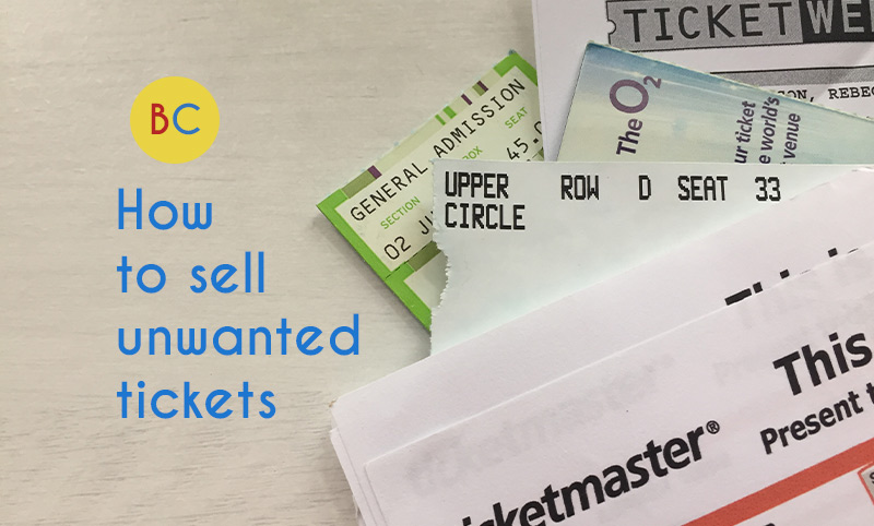 Video: How to sell unwanted tickets