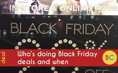 Who's doing Black Friday and Cyber Monday 2019 and when – my huge list of where to shop