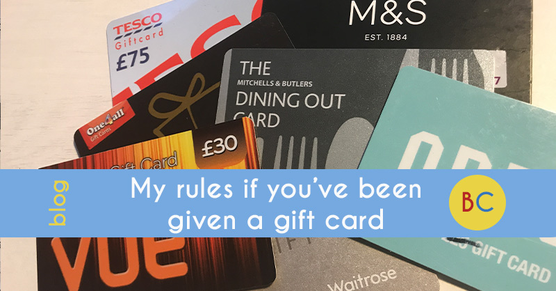 rules if given a gift card