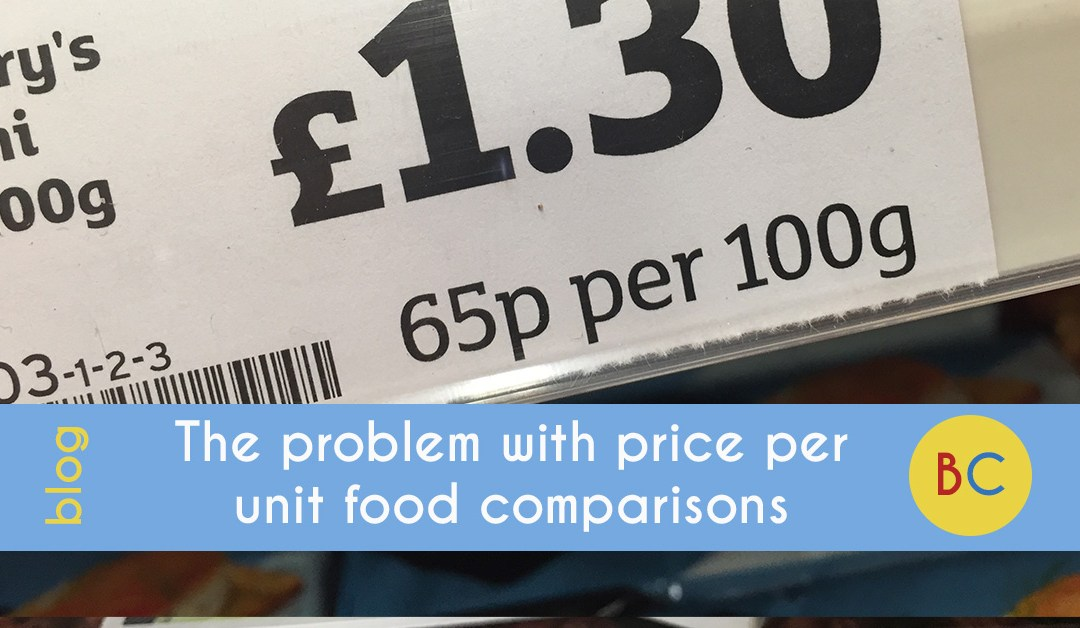 problem with price per unit food comparisons