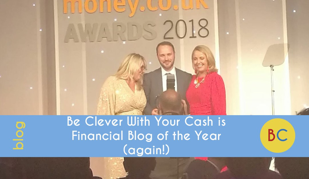 Be Clever With Your Cash is Financial Blog of the Year (again!)
