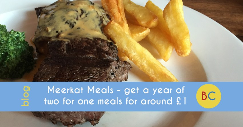 Compare the Market add Meerkat Meals - get a year of two for one meals (and movies) for around £1