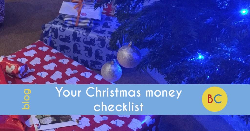Christmas money checklist