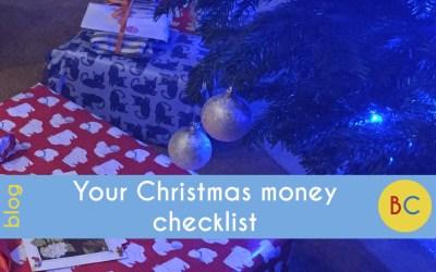 Your Christmas money checklist