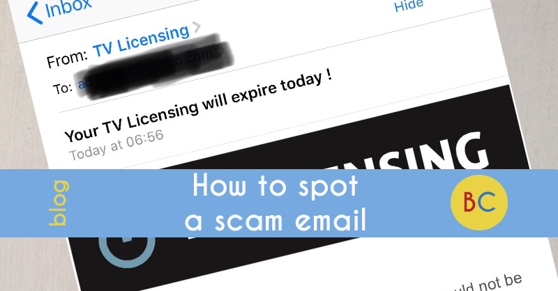 How to spot a scam email