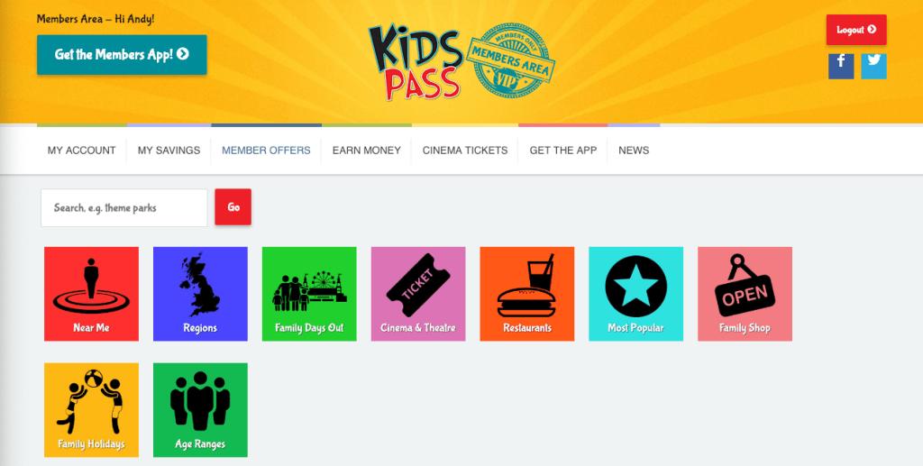Kids Pass member offers