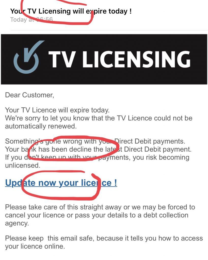 Email scam spelling errors