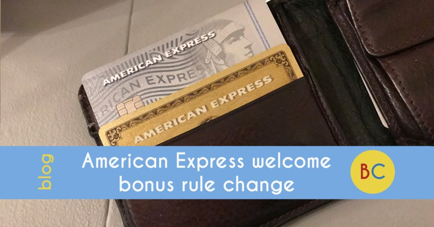 American Express welcome bonus - what the rule changes mean