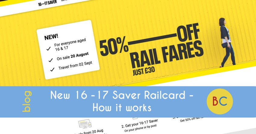 New 16 -17 Saver Railcard - how it works