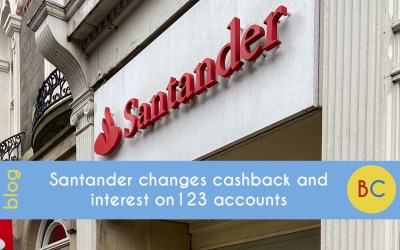 Santander changes cashback and interest on 123 accounts