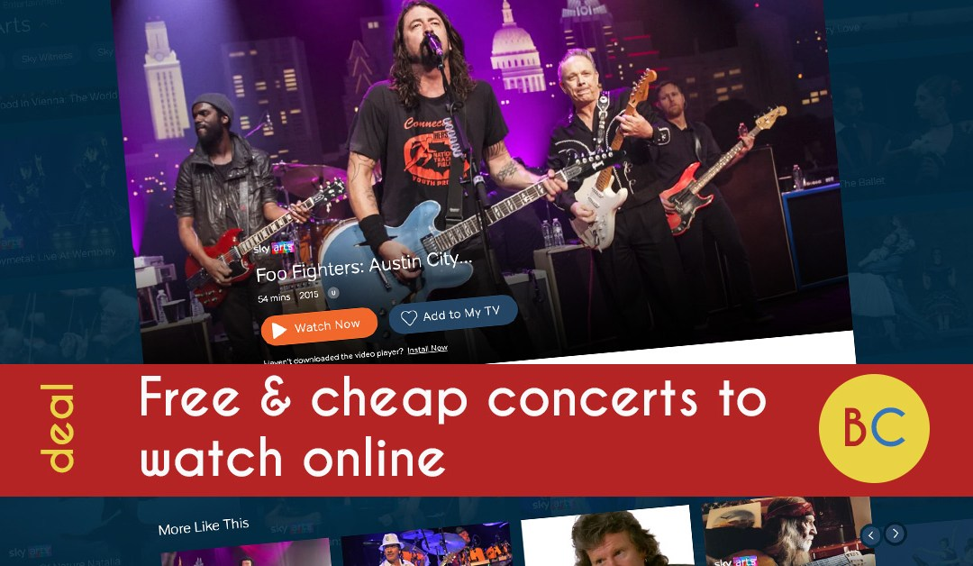 50+ free and cheap concerts to watch online