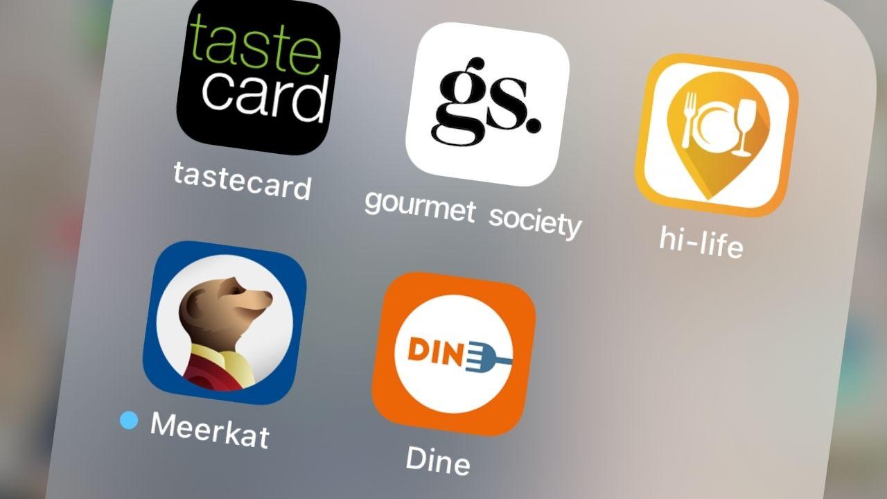 restaurant dining card apps
