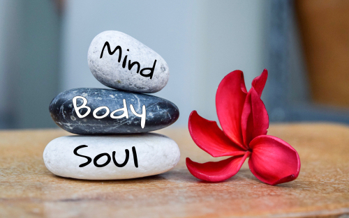 Mind Body Soul with Flower