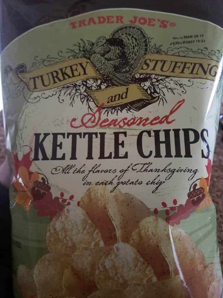 Trader Joe's Turkey Stuffing and Seasoned Kettle Chips