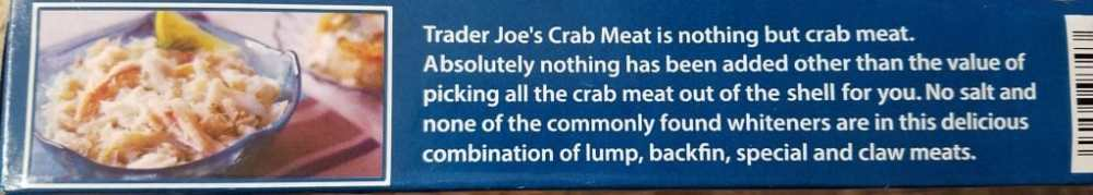 Trader Joe's Wild Caught Crab Meat