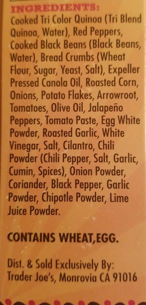 Trader Joe's Quinoa Cowboy Veggie Burger