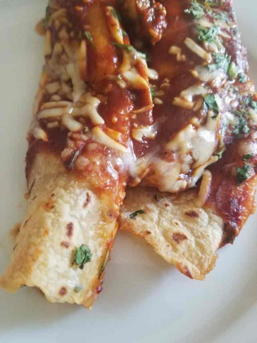 Trader Joes Cheese Enchiladas Rojo