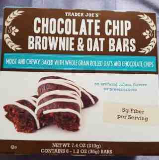 Trader Joe's Chocolate Chip Brownie and Oat Bar