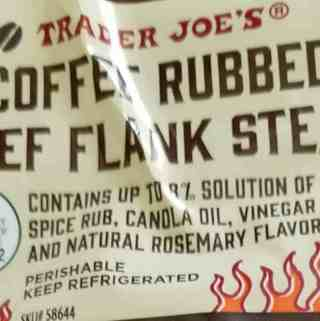 Trader Joe's Coffee Rubbed Flank Steak