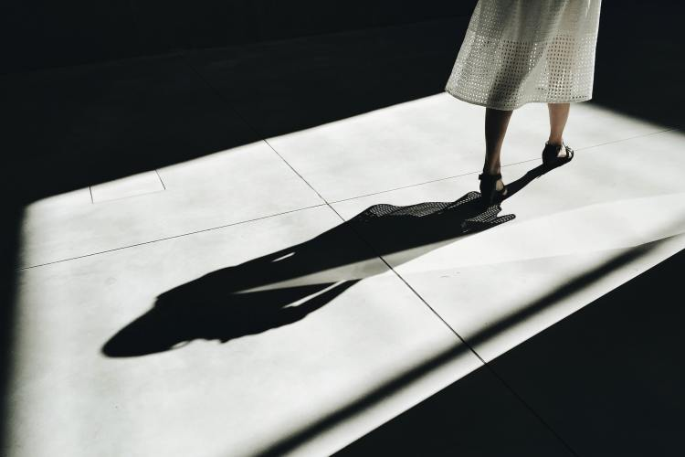 Picture of the shadow of a woman