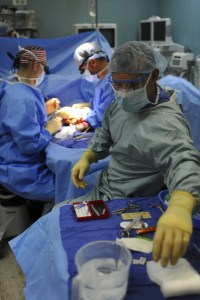 Surgery in progress