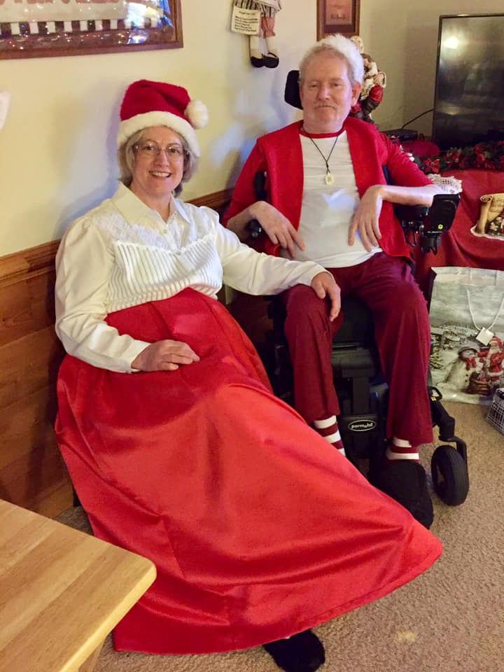 Lynn and I playing Santa at Christmas 2018