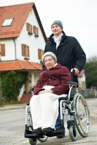 Caregiver provides daily walks per terms of care agreement