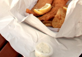 Food you get at a the local fish and chips shop