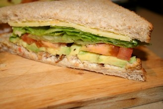 Salad sandwich (yes, just salad--no meat, just veggies)