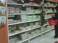 Getting used to finding eggs in the baking aisle, unrefrigerated