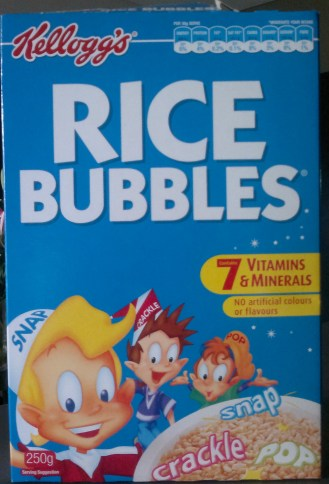 "Not ""krispies"" but ""bubbles."" Yes, bubbles."