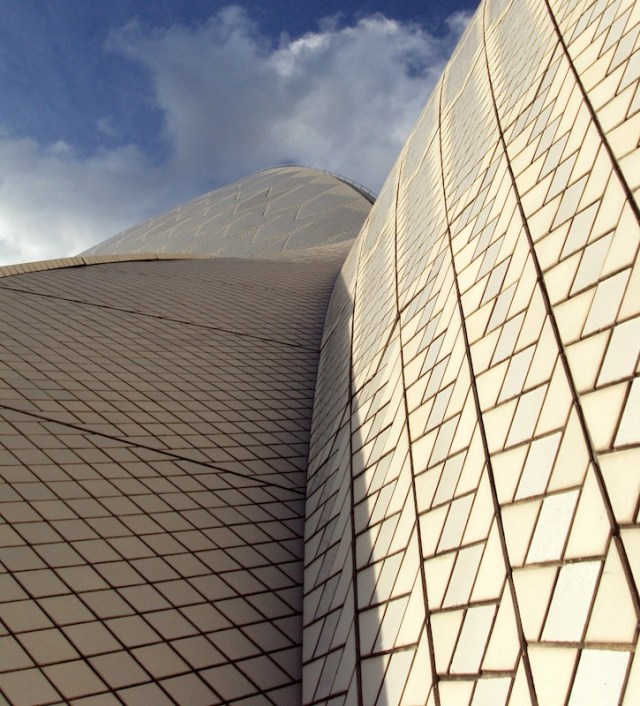 close-up of the Sydney Opera House